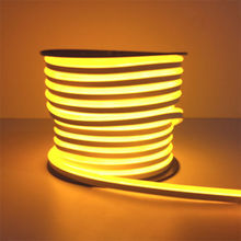 High Flexibility IP 65 LED Neon Flex Yellow 24V Flex Rope Light