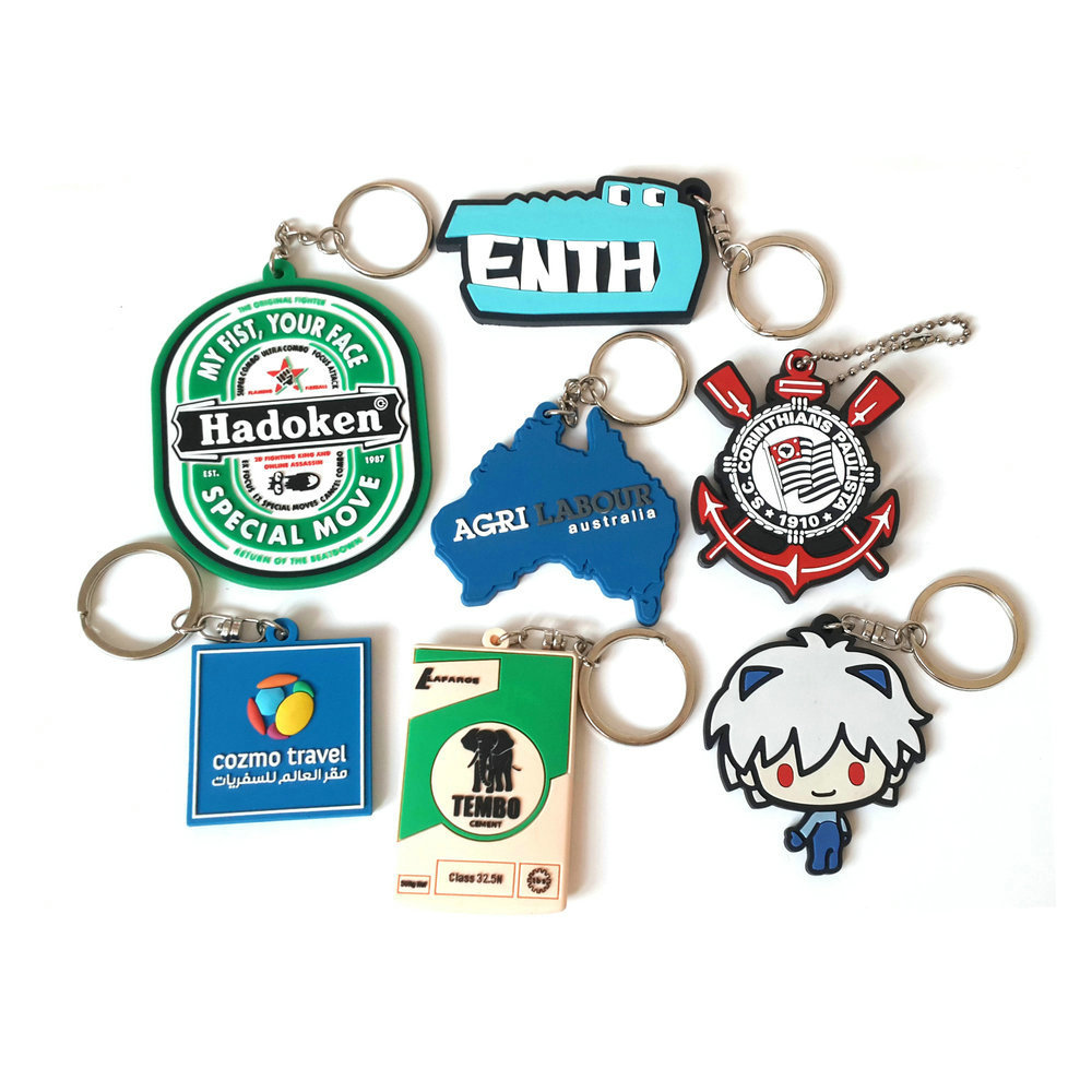 custom logo 2d/3d soft PVC rubber key chain guangzhou for promotional gifts,advertising