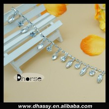 DH-RT2103 Cystal/Silver Rhinestone/Diamante/Crystal Trim - Hair Accessories/Cakes/Bouquets/Jewellery/Costume!