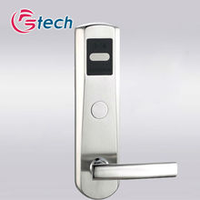 Stainless steel card swipe door lock in silver color with high quality moto rwireless door lock key
