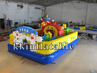 funny inflatable amusement park/small inflatable fun city