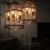 Nordic retro industrial style wrought iron luxury birdcage chandelier in loft