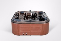 latest design wooden around cheap price free standing portable outdoor hot bathtub