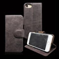 Custom Real Leather Stand Flip Phone Shell, Wallet Flip Leather Phone Case For iPhone7