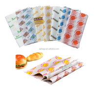 custom printed greaseproof burger wrapping paper