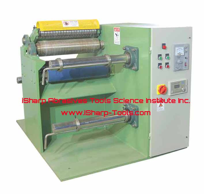 Abrasive cloth simple roll slitter