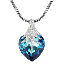 Fashion Jewelry Top Quality Heart Necklaces Made With Swarovski Elements
