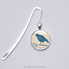 fancy custom printing bird metal bookmark for promotional gift