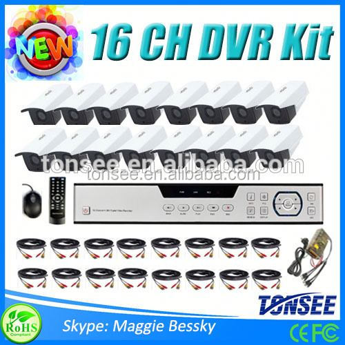 16 Channel Outdoor Security Surveillance Camera System Surge Protection Cctv,Hdcvi Bullet Hd