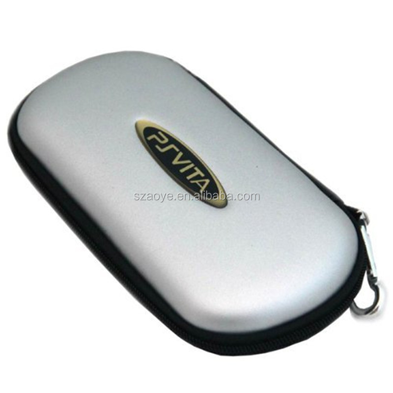 Protective Hard Travel Carry Shell Case Cover Pouch Bag Compatible for Sony PS Vita PSV Color Silver