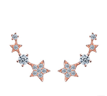 SCI132 fore star long beautiful earring designs for women