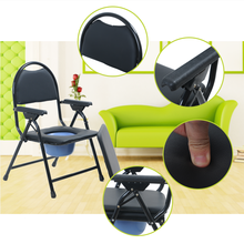 Economy Steel folding toilet chair with bedpan for patients