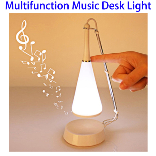 Wireless Bluetooth Music Multifunctional USB LED Light Adjustable Touch Sensor Table Lamp with Mini Speaker