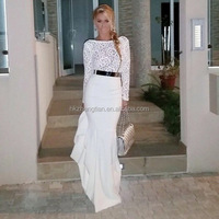 ladies long sleeve maxi dresses western evening party wear fish tail cut dress
