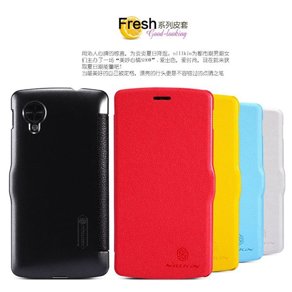 Nillkin Fresh Leather Flip Cover Case Skin For LG Google Nexus 5