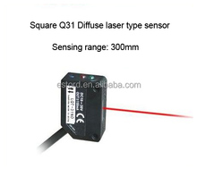 JGQ31 Square housing diffuse type laser <strong>sensor</strong> 30cm Detection distance