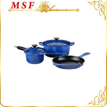 blue color enamel cast iron cookware sets