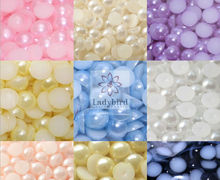 2014 new design flat back half round nail pearl /nail art decorations of Cell Phone Nail Art Beauty Ornament