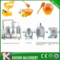 honey processing plant / honey processing and packing machine