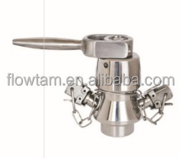 sanitary stainless steel axenic sample valve