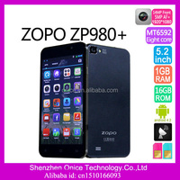 5 inch big touch screen mobile phone ZOPO ZP980+ 2gb ram 16gb rom MTK6592 1.7Ghz octa core Android 4.2 smartphone