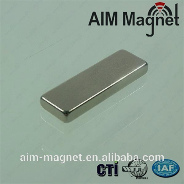 NdFeB magnet block 42 x 8 x 10mm thick N42 3M adhesive backed neodymium magnet