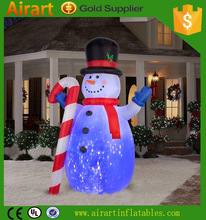 PVC material garden decoration built-in lighting LED small light inflatable Christmas snowman