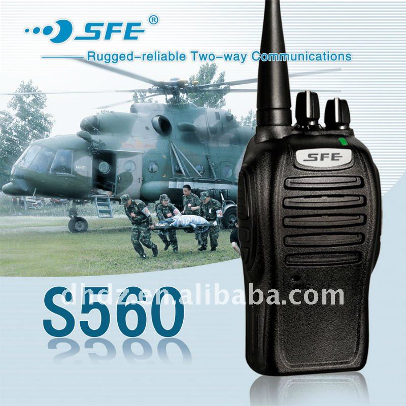 Small uhf 5 Watt wireless walkie-talkie S560