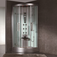Low Tray Walk In Corner Steam Shower Room with Glass Panel (DZ963F8)