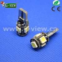 superbright 5 smd 5050 canbus t10 car led