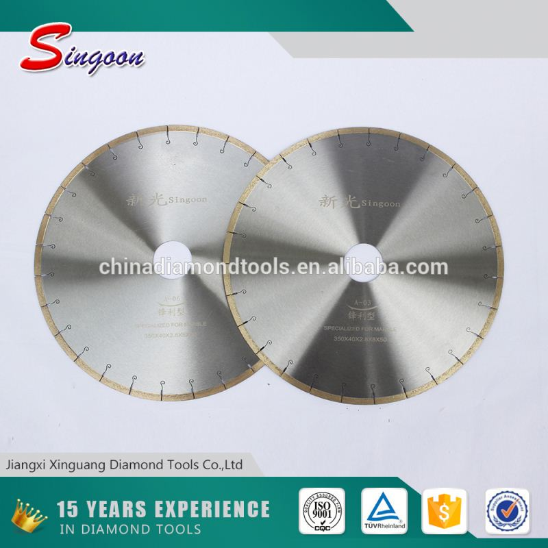 Volume manufacture Diamond Coated Saw Blade For Granite Cutting