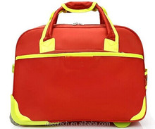 custom very nice multi-function travel bag on wheels