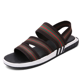 fashion men summer loafer sandal shoes in quanzhou manufacture,hot sell durable rubber casual shoes