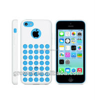 New Circle Hollow Fashion Dots Soft Silicone Case For iPhone 5c