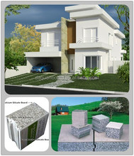 Fast building Low cost, high quality prefab modular house - Daquan lightweight EPS cement sandwich wall panel building system.