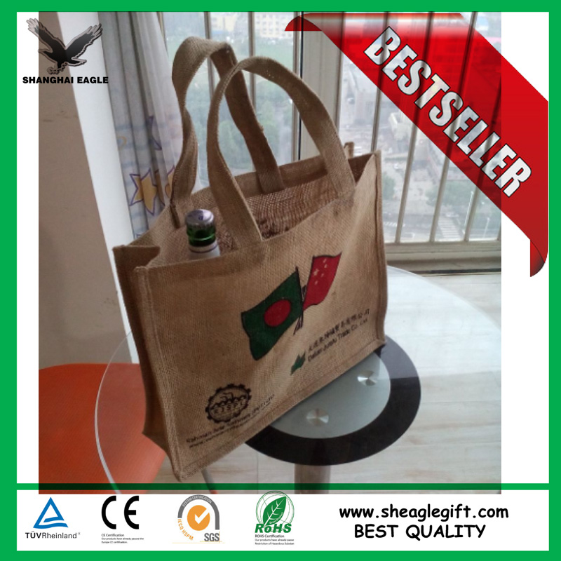 Custom promotion shoppint tote jute bag