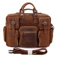 JMD Manufacturers Large Crazy Horse Men Business Bag Unique Leather Briefcases Made In China # 7028B-1