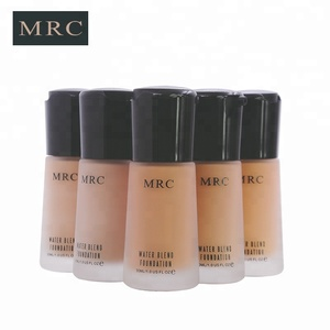 Free sample cosmetics factory private label full coverage liquid foundation with frosted glass bottle