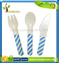 Excellent Food Grade Custom Printed Disposable Paper Cutlery