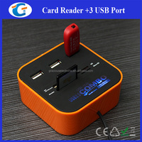 New Style USB 3 Ports Charger Hub With SD Card Reader