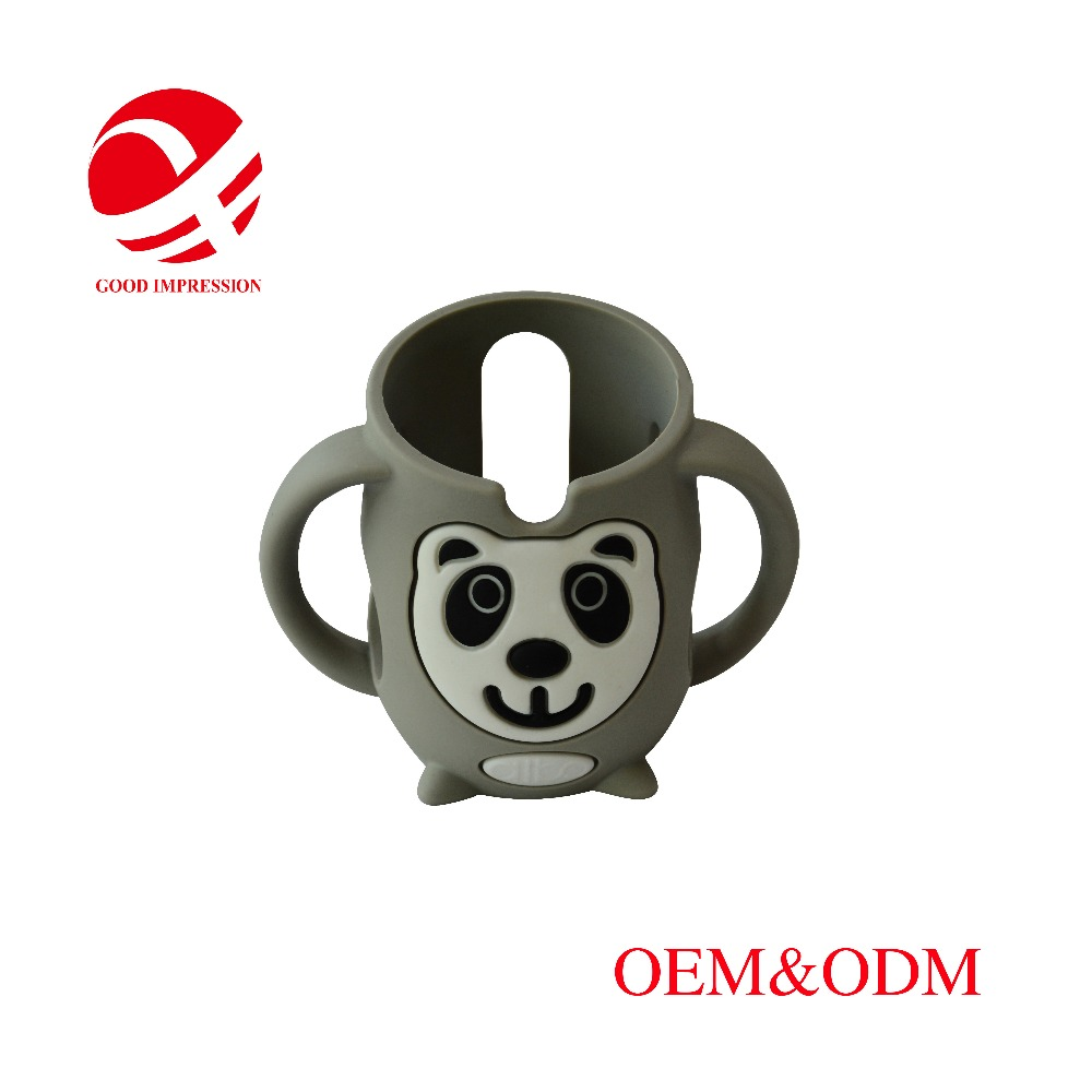 high quality panda shaped food grade custom cup silicone rubber sleeve