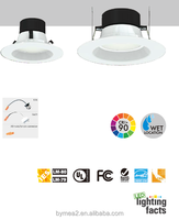 4' Recessed Led Downlight,9w,65w Equivalent,500lm,80 Ra,Dimmable ...
