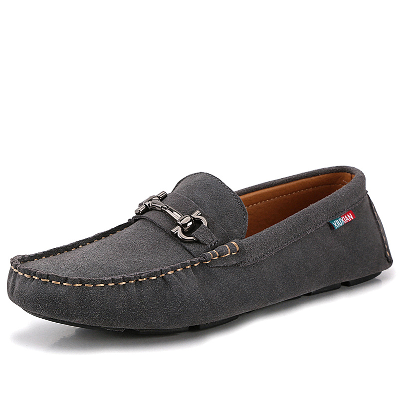 Get Quotations · 2015 Hot Suede Leather Mens Moccasins Slip On Men Loafers  Male Casual Flats Driving Shoes 8866