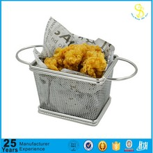 Manufature French Fries Stainless Steel Fry Serving Basket