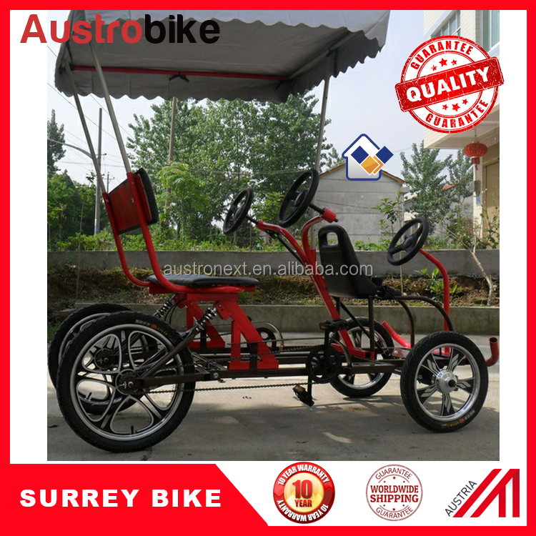 free shipping quadricycle 4 people surrey bike tandem bicycle four wheels bicycle for rental bikes beach side surrey bike