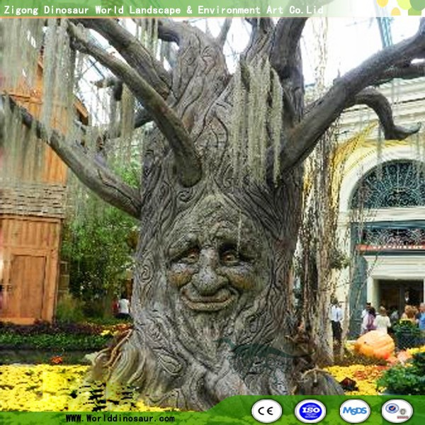 Magic Talking Tree with Artificial Human Face