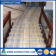 crystal palissandro white marble wooden tiles for stairs flooring