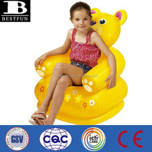 custom inflatable chair for kids plastic lovely aimal design children chair pvc air chair
