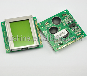 Yellow-Green price 128x64 graphic lcd module for instrument