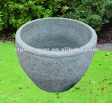 Chinese Round Garden Antique Stone Urn & Jar